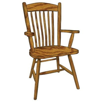 Custom Amish Dining Springfield Arm Chair by Weaver Woodcraft at Saugerties Furniture Mart