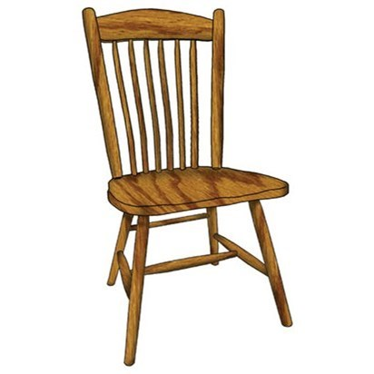 Custom Amish Dining Springfield Side Chair by Weaver Woodcraft at Saugerties Furniture Mart