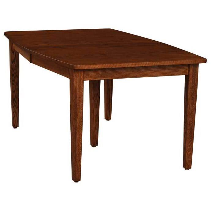 Custom Amish Dining Standard Leg Table by Weaver Woodcraft at Saugerties Furniture Mart