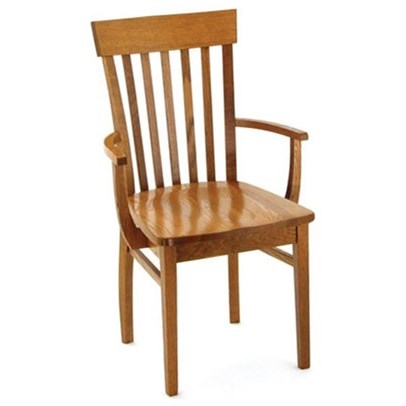 Custom Amish Dining Venice Arm Chair by Weaver Woodcraft at Saugerties Furniture Mart