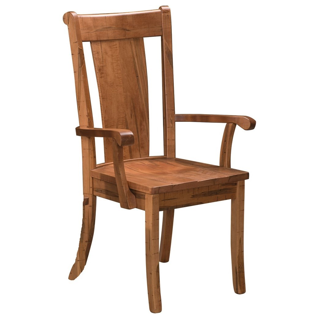 Brady Customizable Dining Arm Chair by Weaver Woodcraft at Saugerties Furniture Mart
