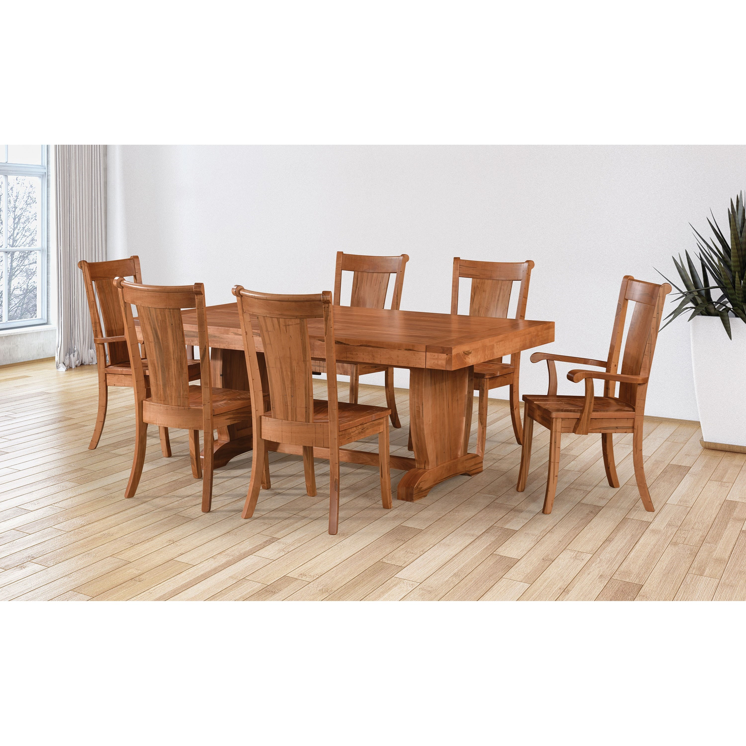 Chuckwagon Customizable Dining Table & Chair Set by Weaver Woodcraft at Saugerties Furniture Mart