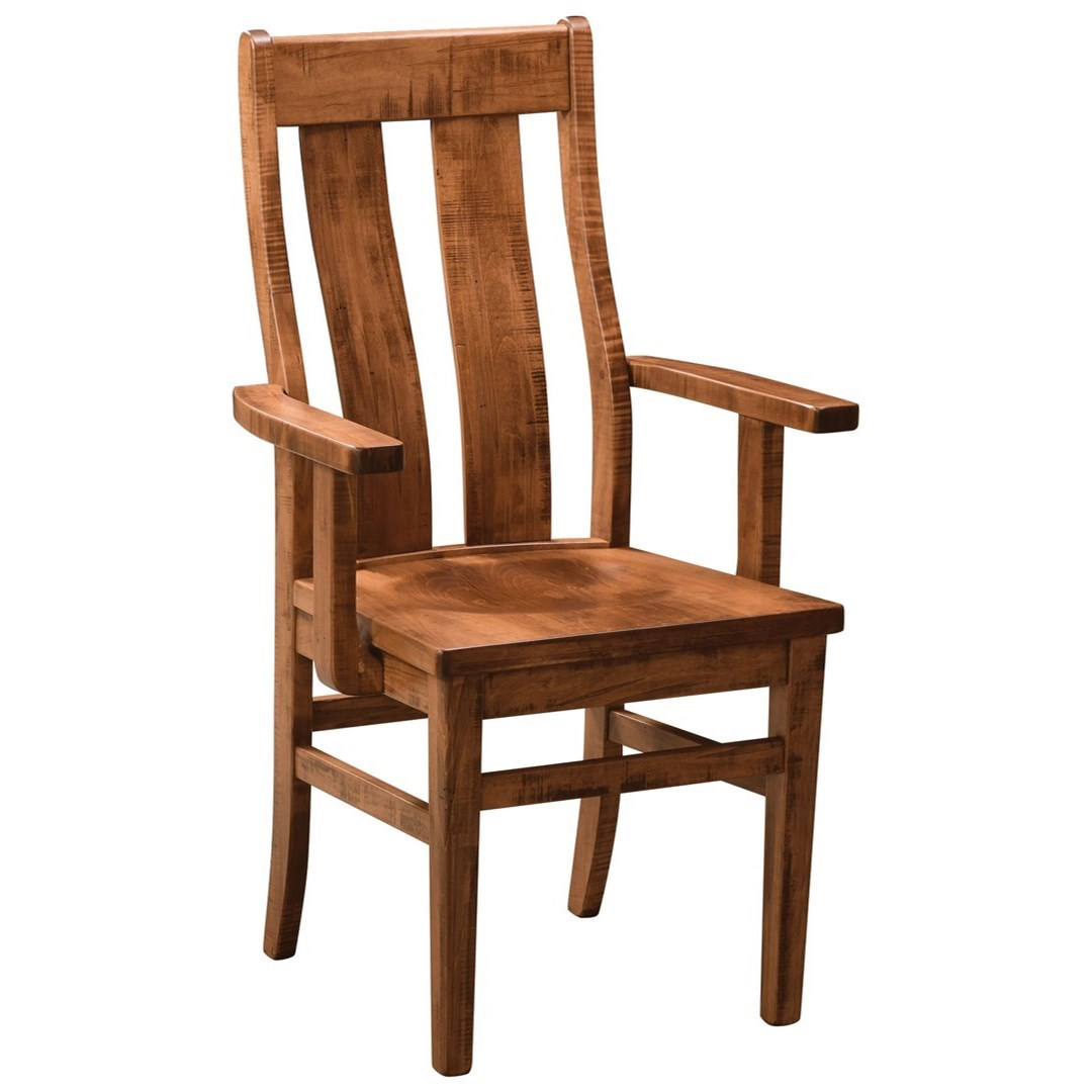 Emerson Customizable Dining Arm Chair by Weaver Woodcraft at Saugerties Furniture Mart