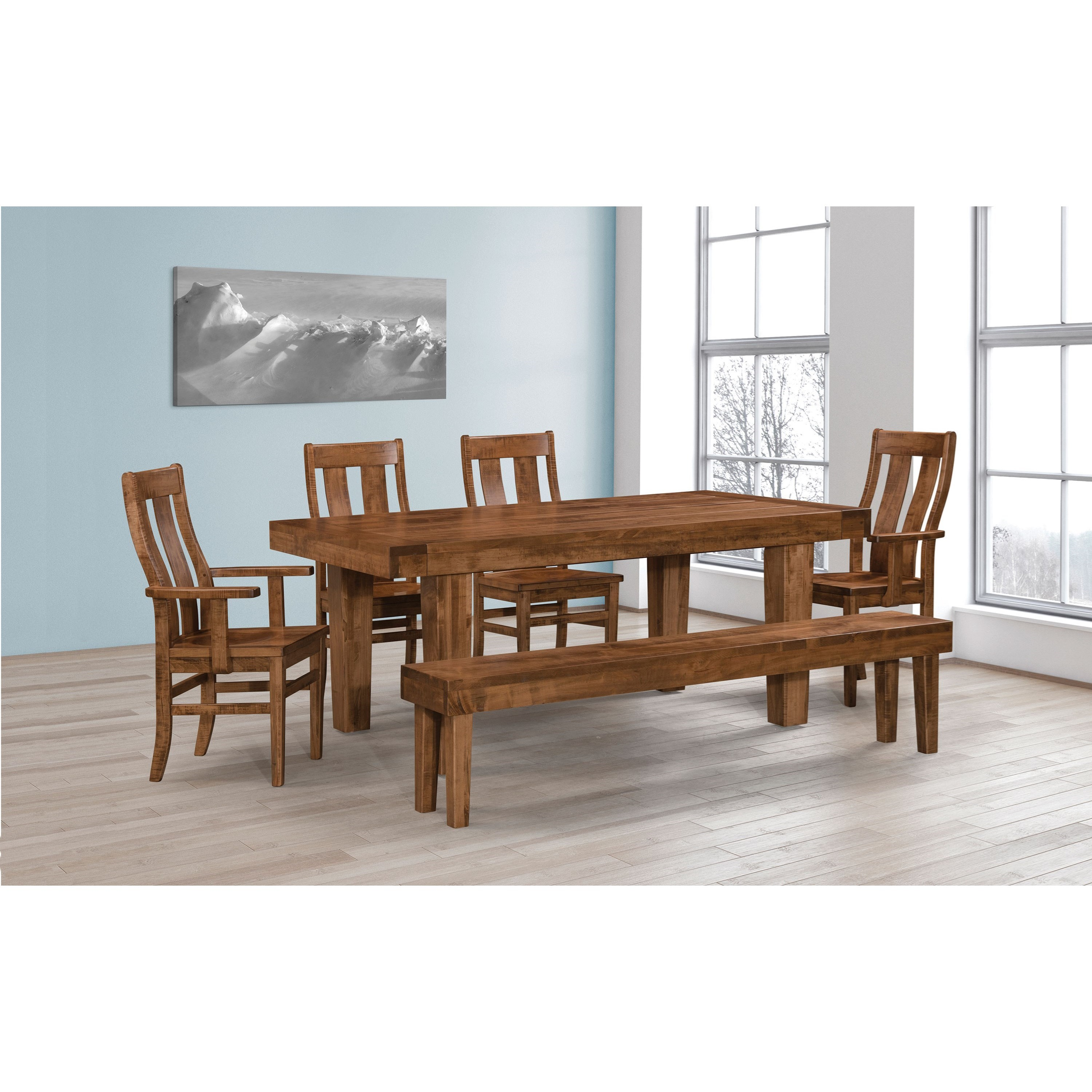 Empire Customizable Table & Chair Set w/ Bench by Weaver Woodcraft at Saugerties Furniture Mart