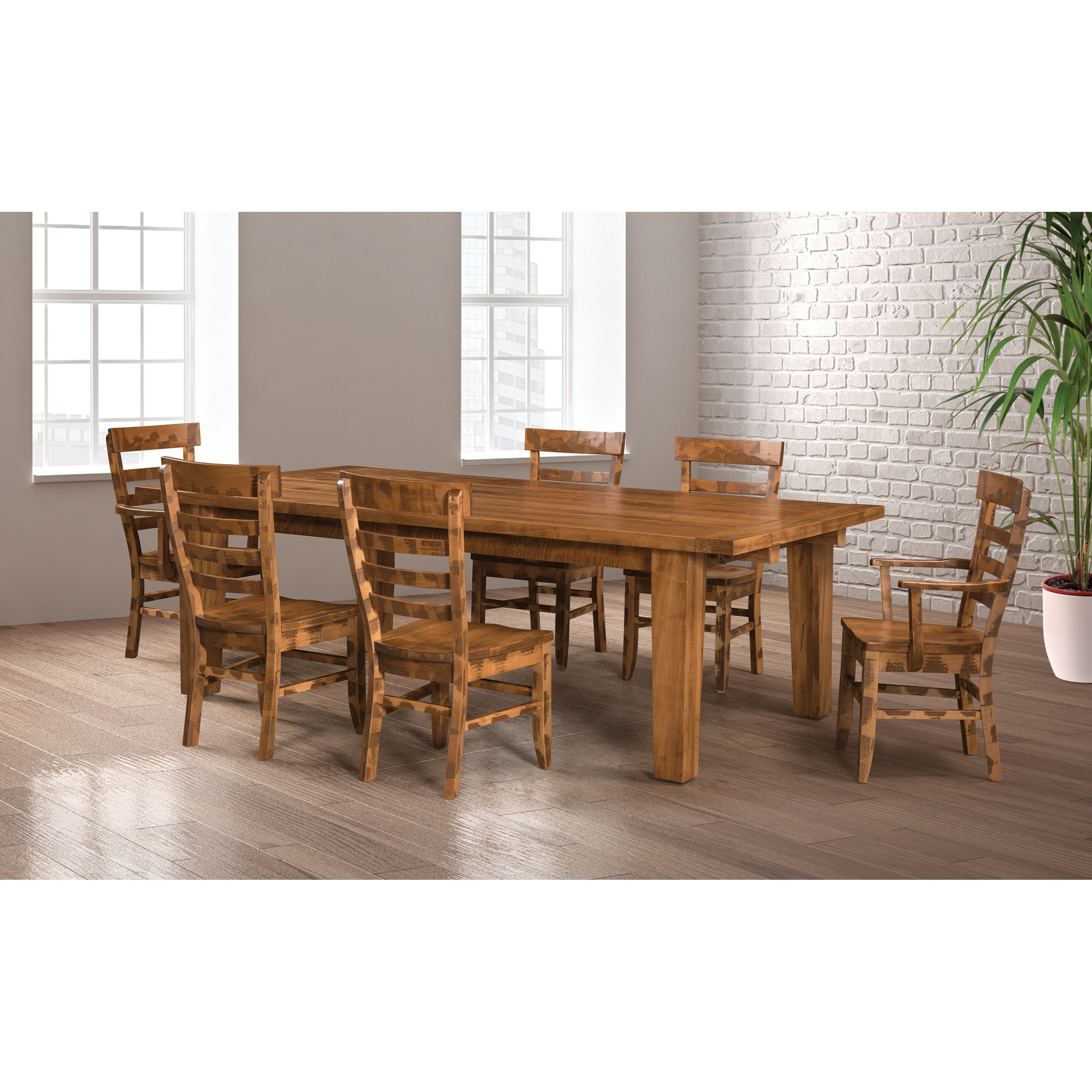 Frontier Customizable Table & Chair Set by Weaver Woodcraft at Saugerties Furniture Mart