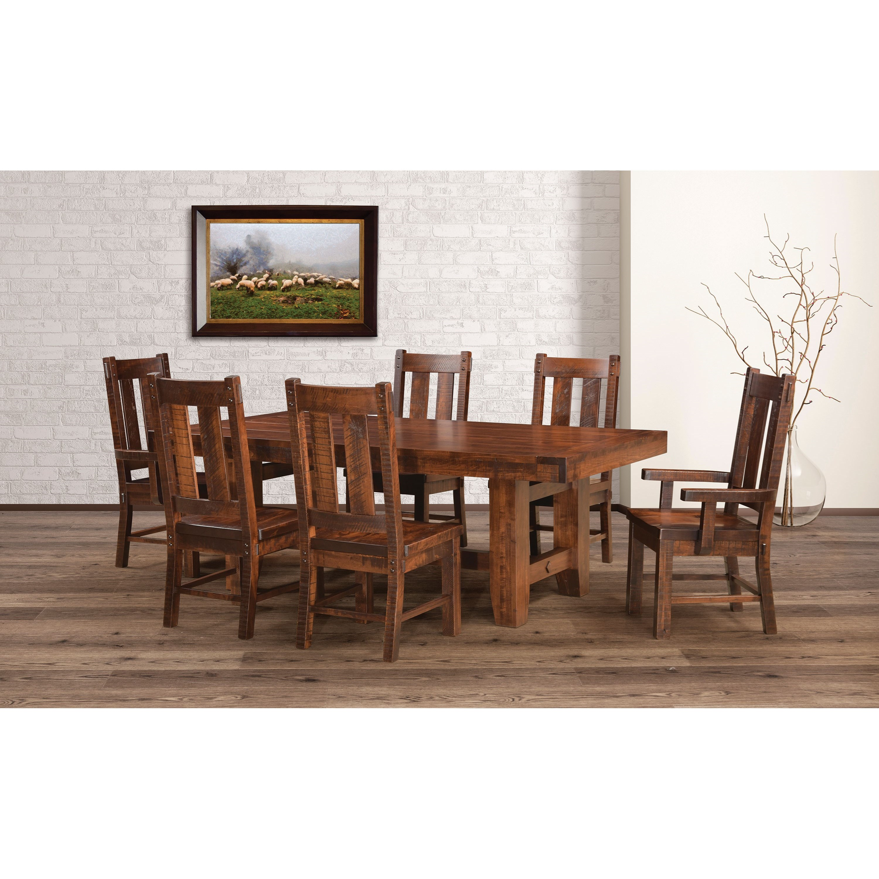 Houston Customizable Table & Chair Set by Weaver Woodcraft at Saugerties Furniture Mart