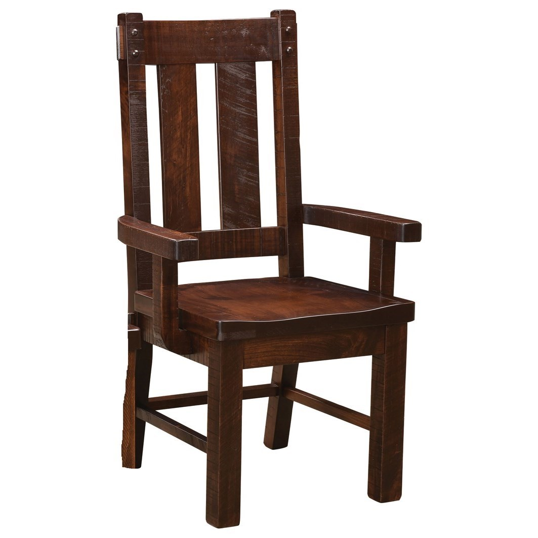 Houston Customizable DIning Arm Chair by Weaver Woodcraft at Saugerties Furniture Mart