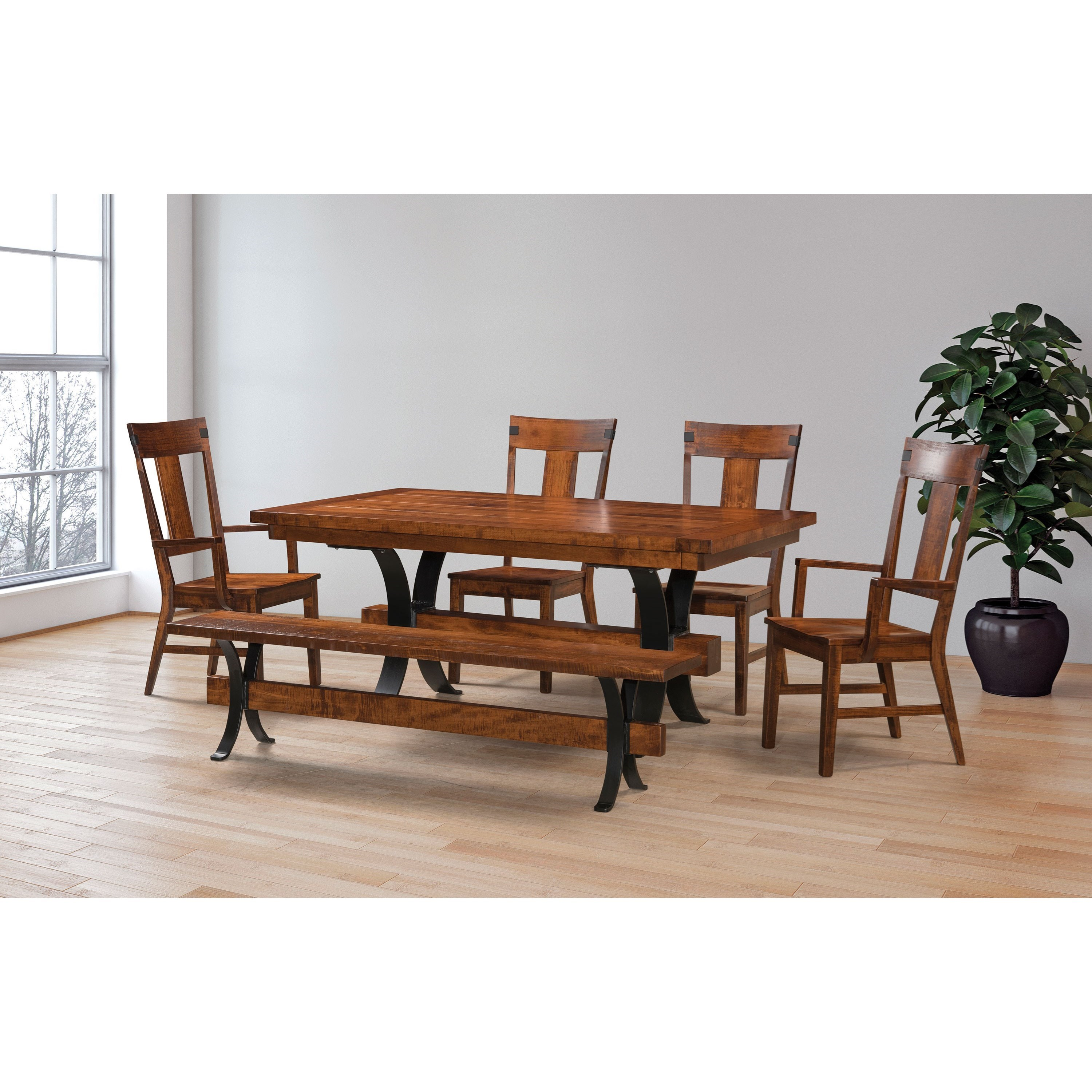 Jericho Customizable Table & Chair Set w/ Bench by Weaver Woodcraft at Saugerties Furniture Mart