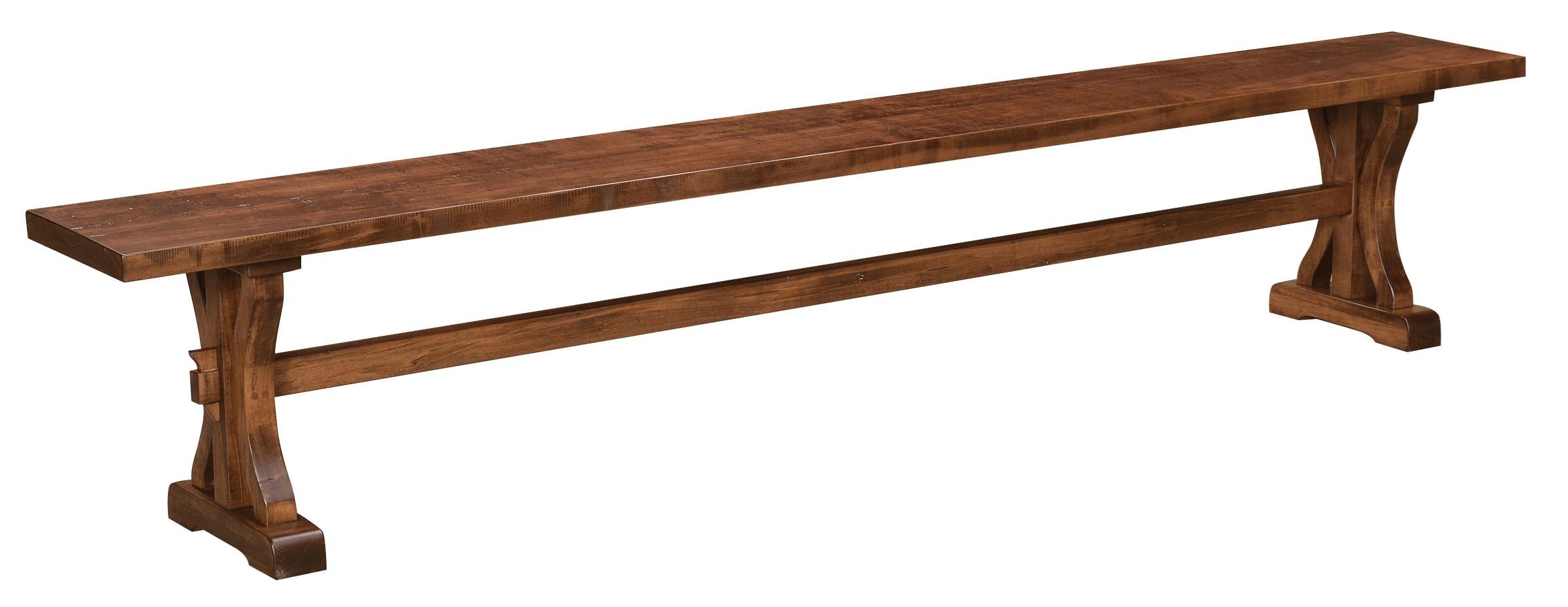 Karlisle Customizable Dining Bench by Weaver Woodcraft at Saugerties Furniture Mart