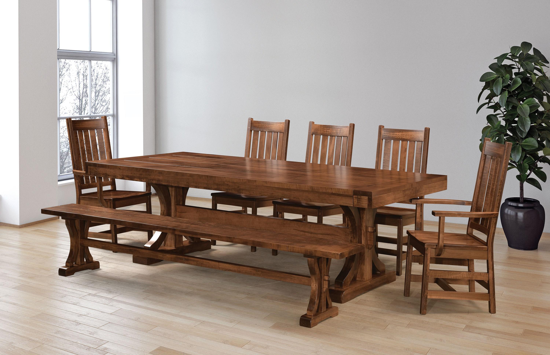 Karlisle Customizable Dining Set w/ Bench by Weaver Woodcraft at Saugerties Furniture Mart