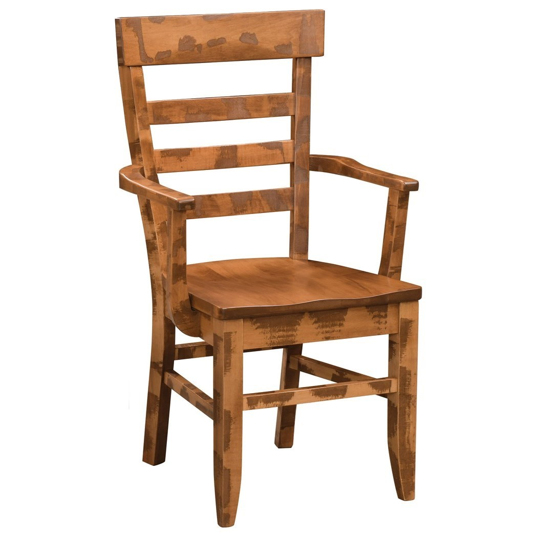 Keystone Customizable Dining Arm Chair by Weaver Woodcraft at Saugerties Furniture Mart