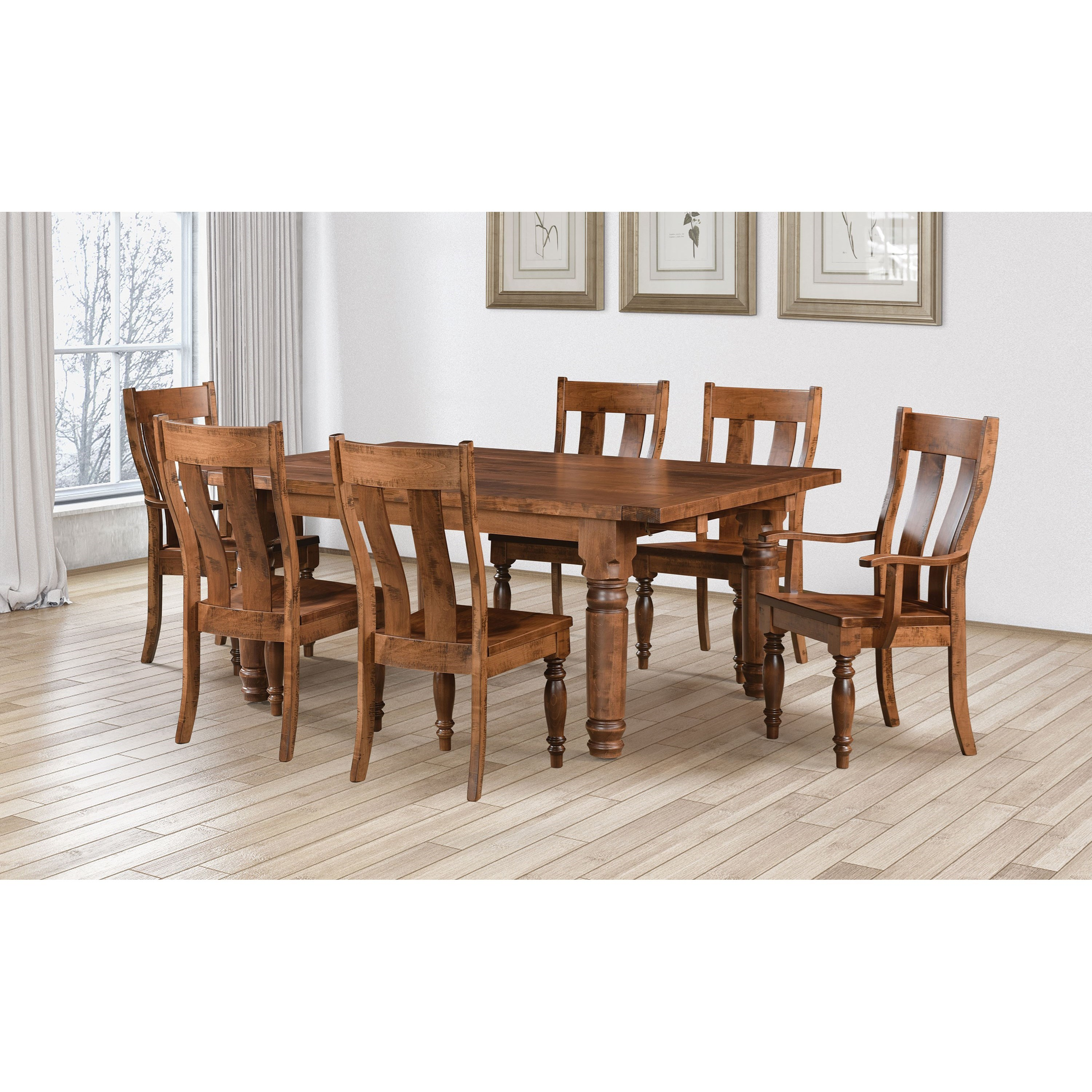 Williamsburg Customizable Table & Chair Set by Weaver Woodcraft at Saugerties Furniture Mart