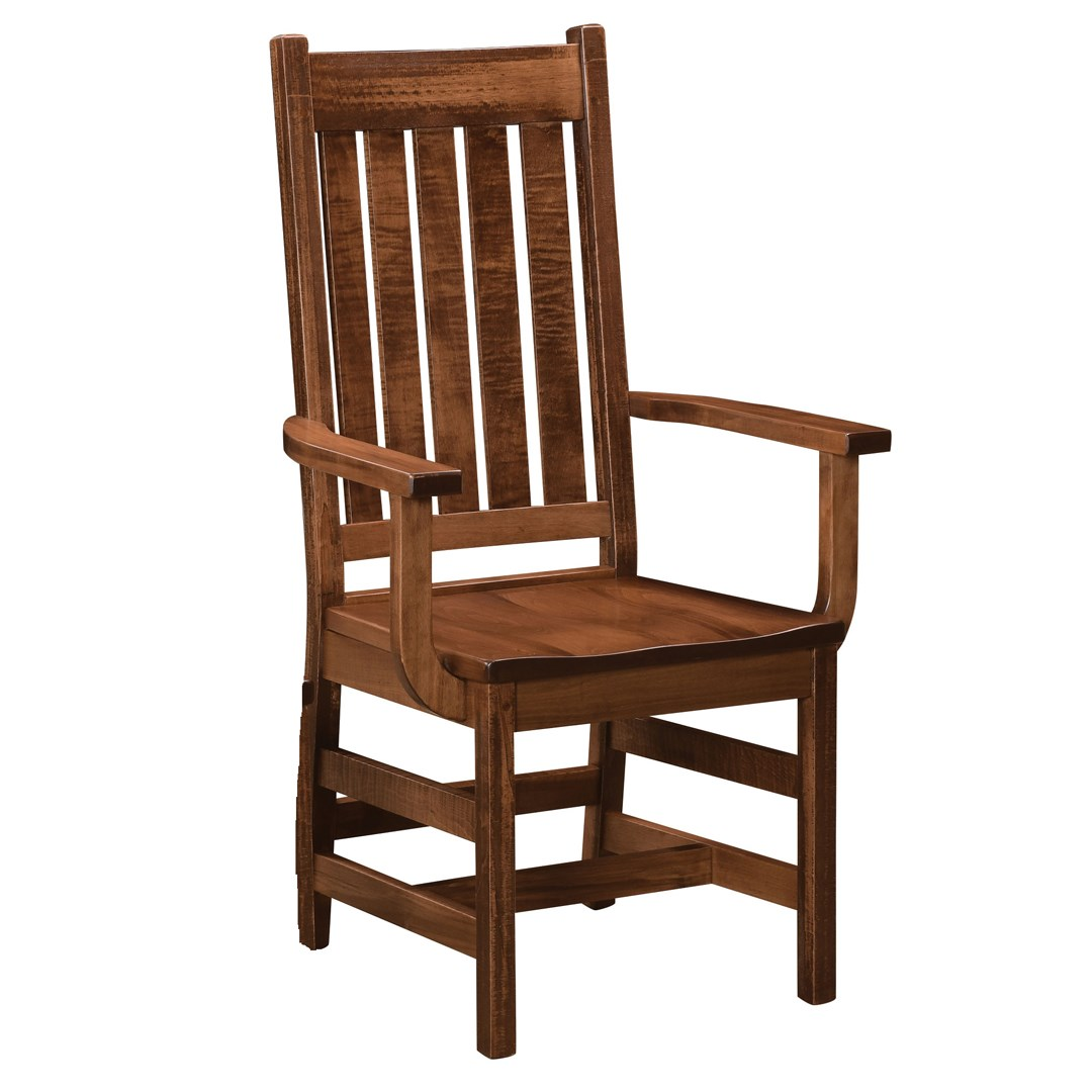 Williamsburg Customizable Dining Arm Chair by Weaver Woodcraft at Saugerties Furniture Mart