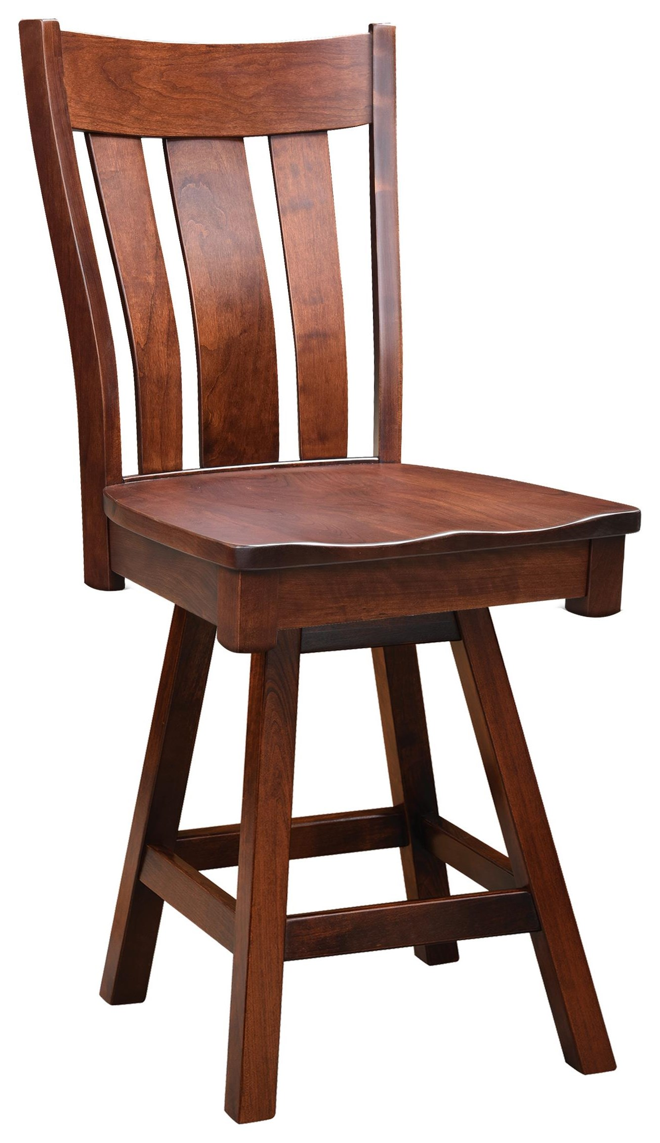 """Bayberry 24"""" Swivel Stool by Wengerd Wood Products at Wayside Furniture"""