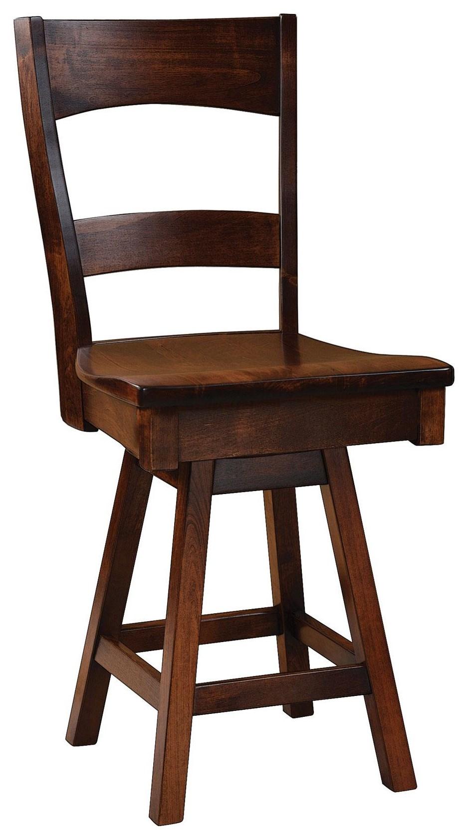 "Coalton 24"" Swivel Stool by Wengerd Wood Products at Wayside Furniture"