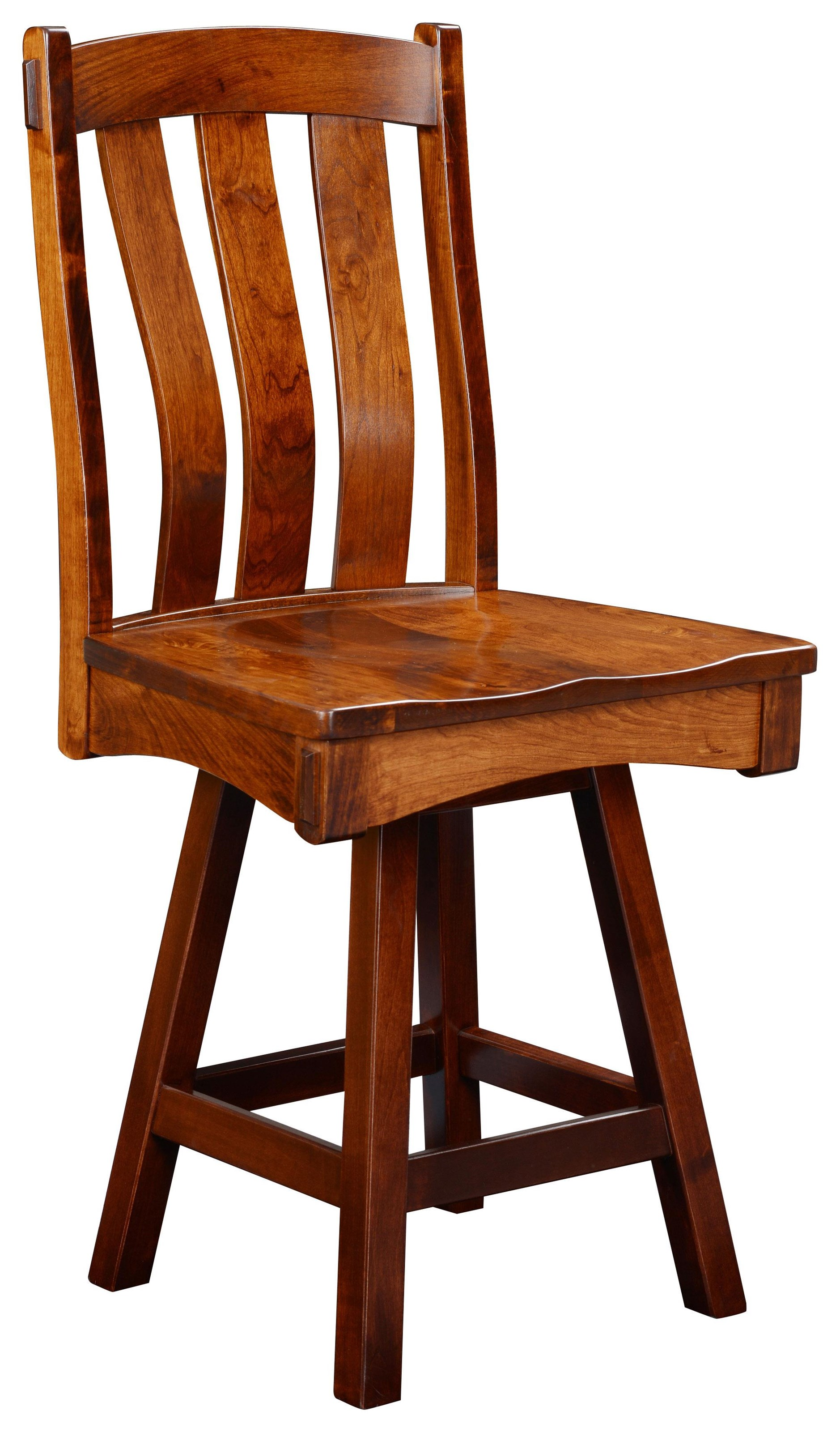 """Monarch 24"""" Swivel Stool by Wengerd Wood Products at Wayside Furniture"""