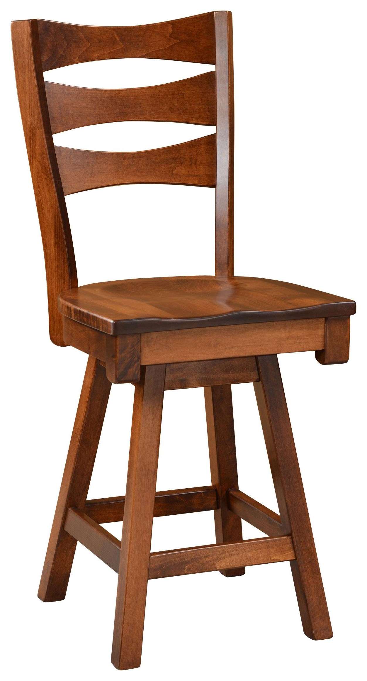 """Sierra 24"""" Swivel Stool by Wengerd Wood Products at Wayside Furniture"""