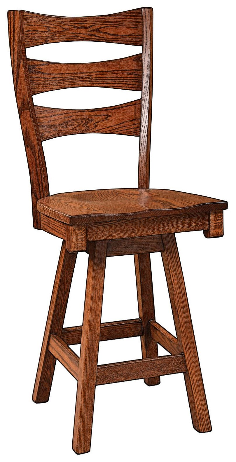 """Sierra 30"""" Swivel Stool by Wengerd Wood Products at Wayside Furniture"""