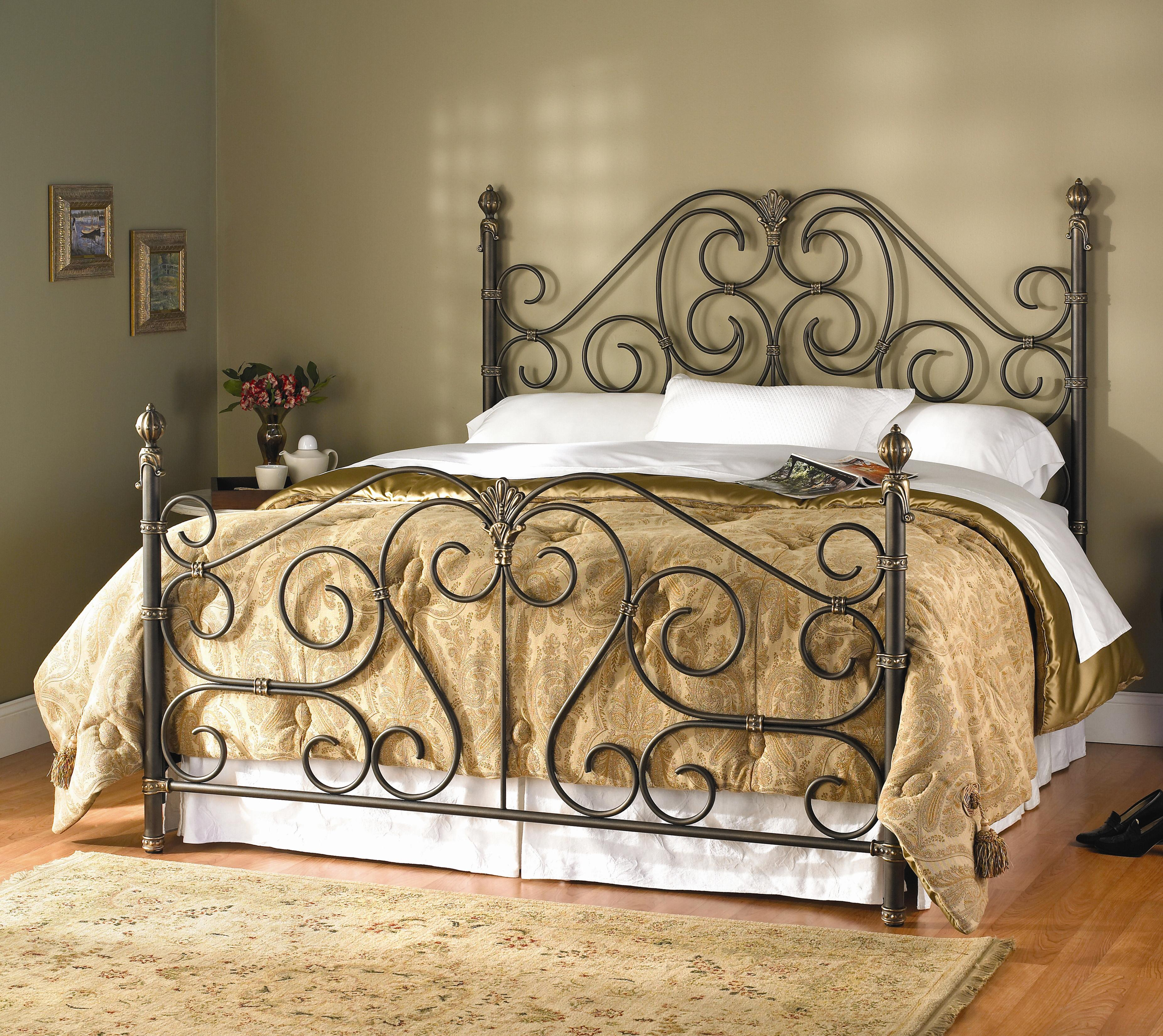 Aberdeen King Aberdeen Metal Bed by Wesley Allen at Baer's Furniture