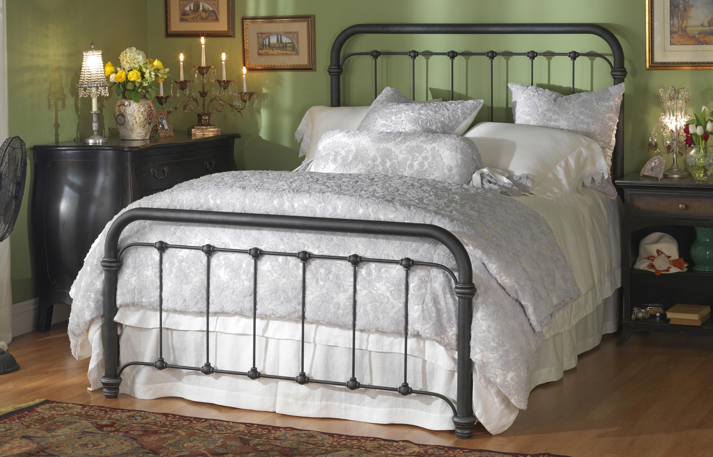 Iron Beds King Braden Bed by Wesley Allen at Arwood's Furniture