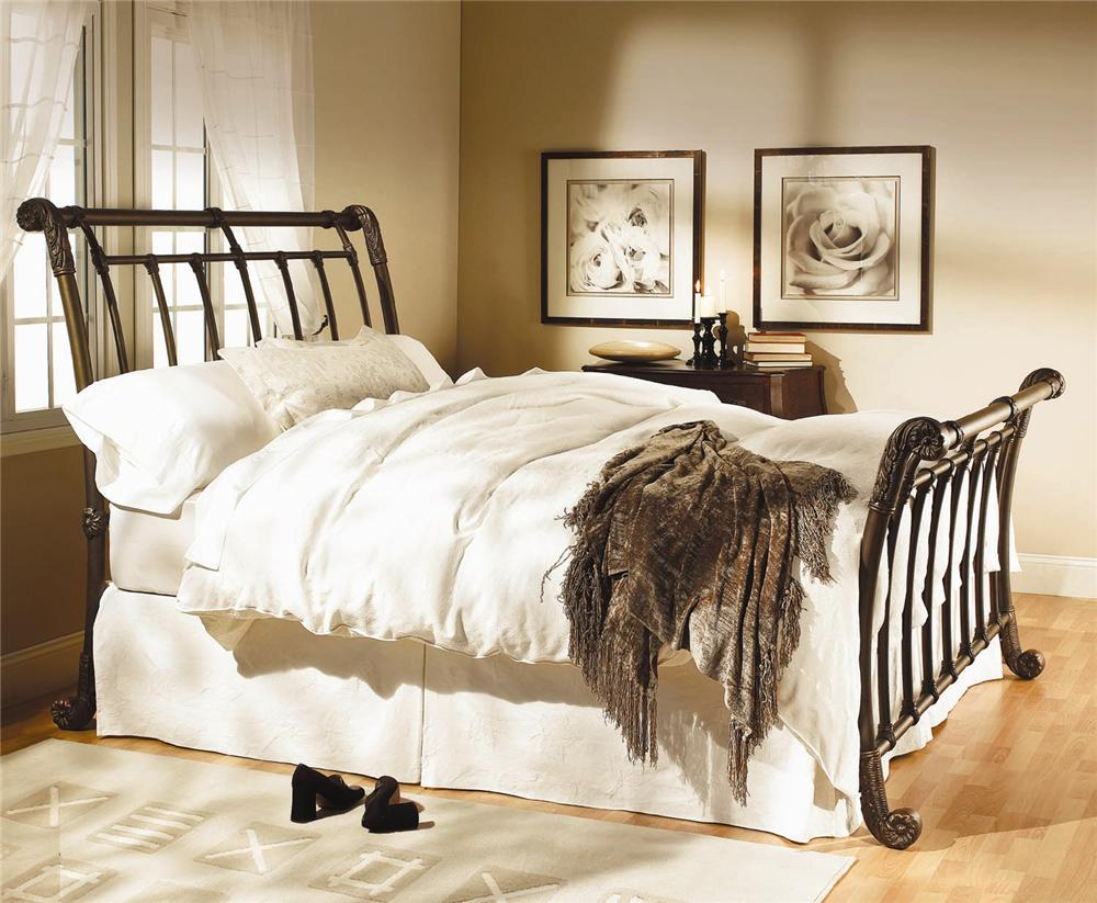 Iron Beds Brookshire Sleigh Bed by Wesley Allen at Baer's Furniture
