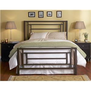 Queen Contemporary Sunset Iron Bed