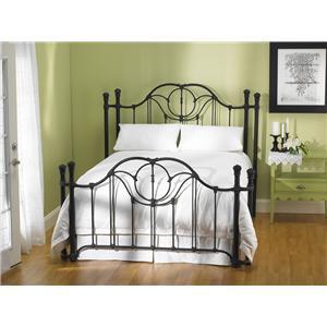 Queen Kenwick Metal Poster Bed with Return Posts