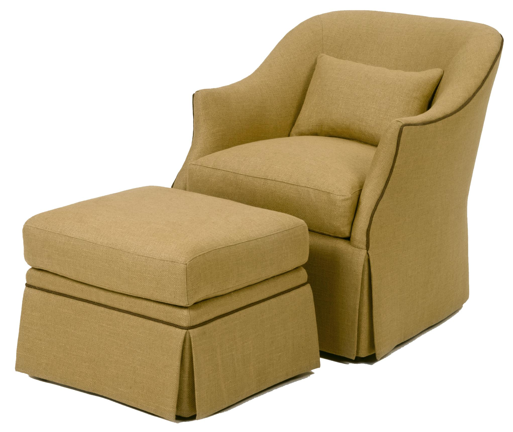Accent Chairs and Ottomans Upholstered Chair and Ottoman by Wesley Hall at Malouf Furniture Co.