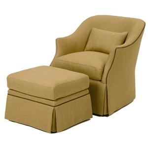 Wesley Hall Accent Chairs and Ottomans Upholstered Chair and Ottoman