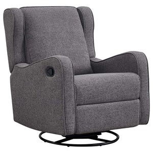 Contemporary Swivel Glider Rocker Recliner with Track Arms