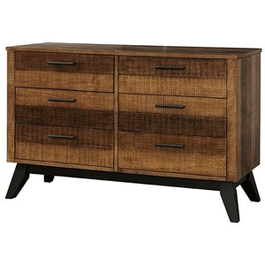 Rustic Youth 6-Drawer Dresser