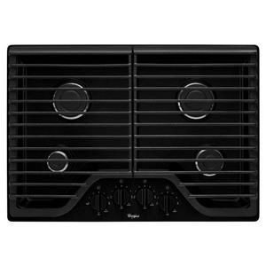 "Whirlpool Gas Cooktops 30"" Gas Cooktop with Multiple SpeedHeat™"