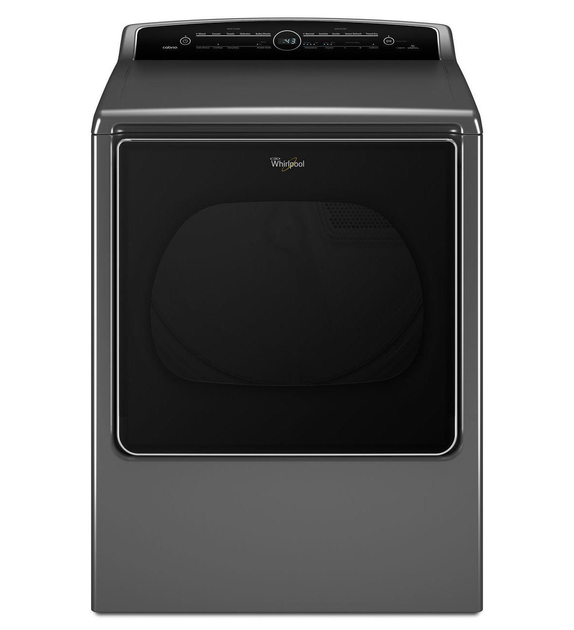 Electric Dryers 8.8 cu. ft. Cabrio® Electric Steam Dryer by Whirlpool at Westrich Furniture & Appliances