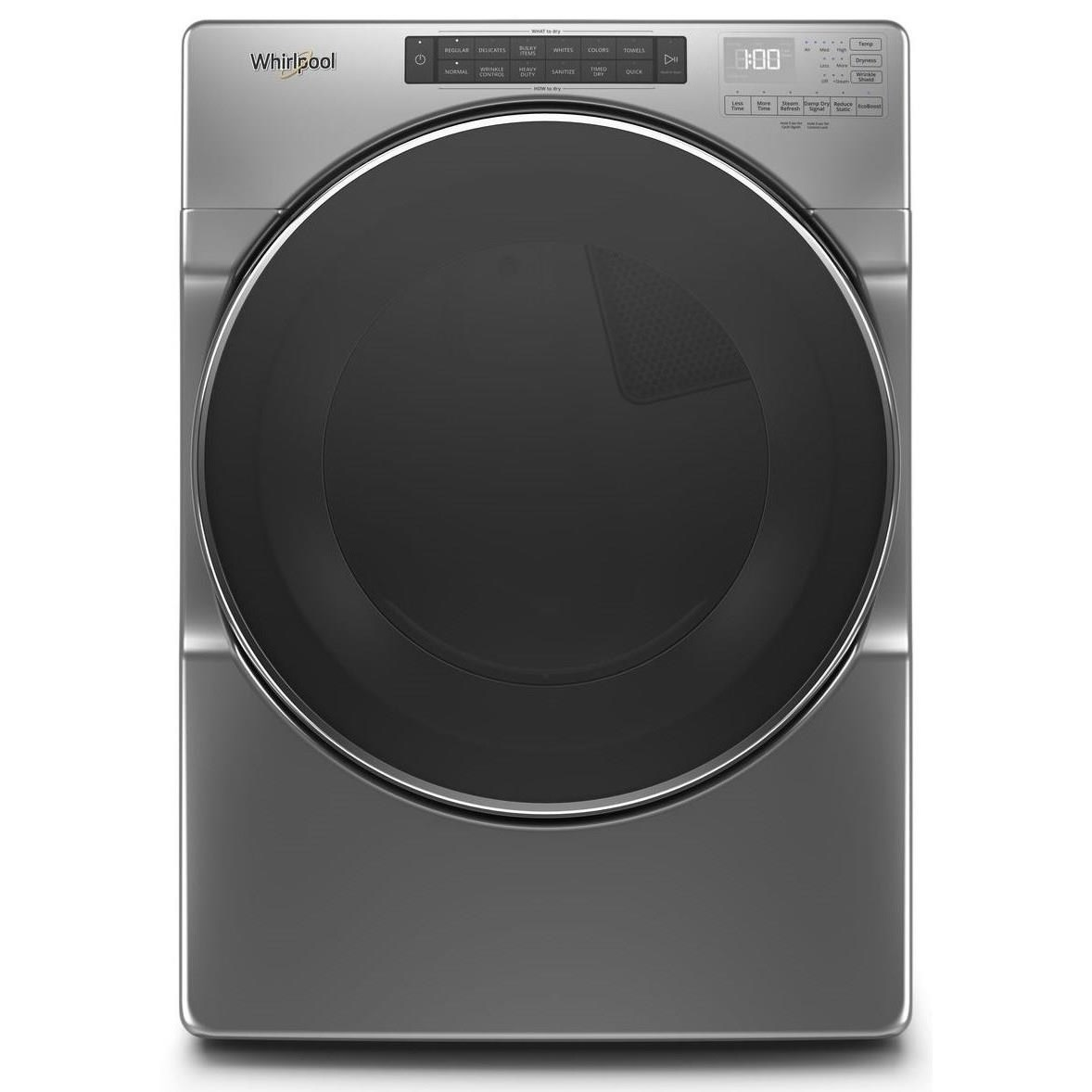 Electric Front Load Dryers 7.4 cu. ft. Front Load Electric Dryer by Whirlpool at Furniture and ApplianceMart