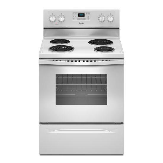 Electric Ranges 4.8 Cu. Ft. Freestanding Electric Range by Whirlpool at Wilcox Furniture