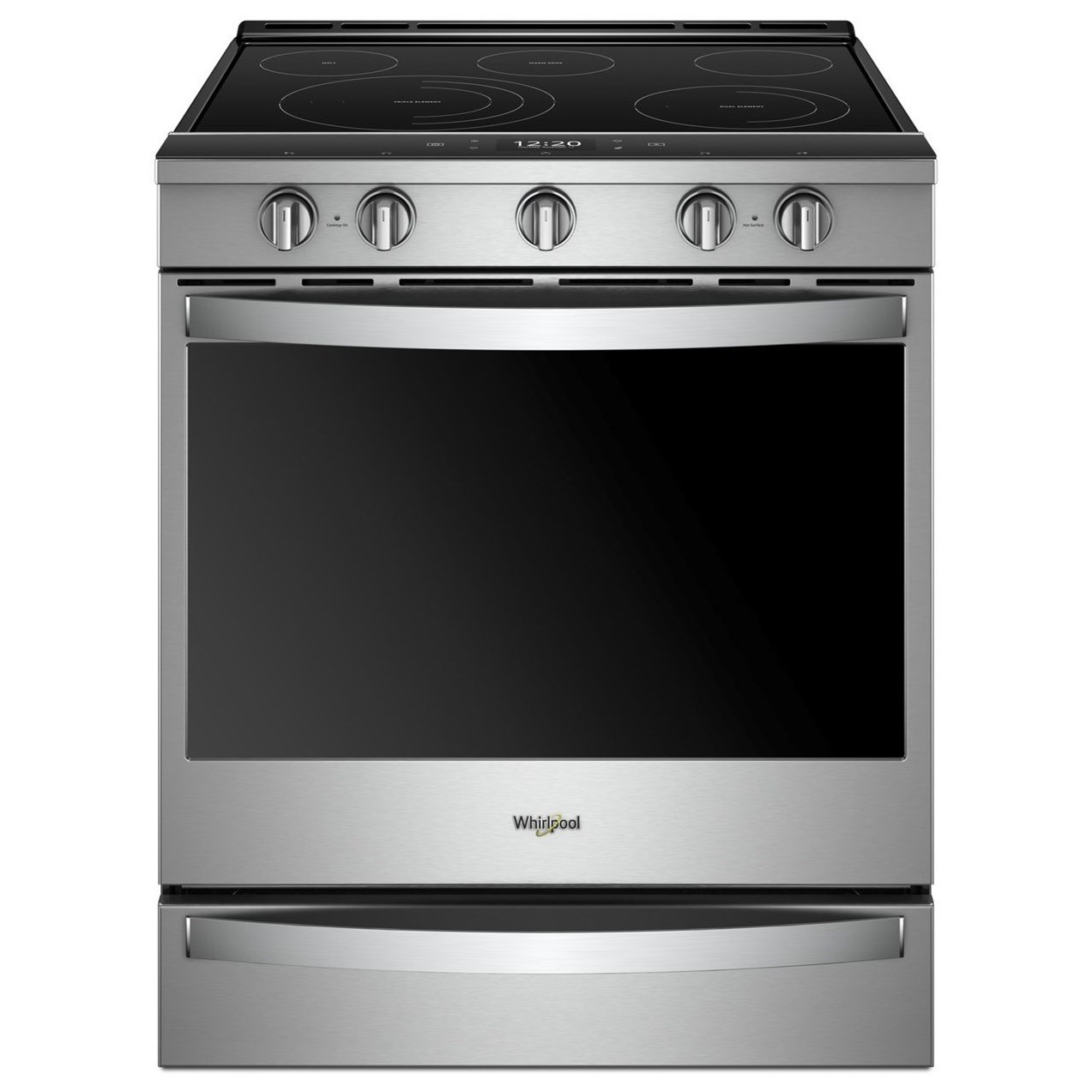 Electric Ranges 6.4 Cu. Ft. Smart Slide-in Electric Range by Whirlpool at Wilcox Furniture