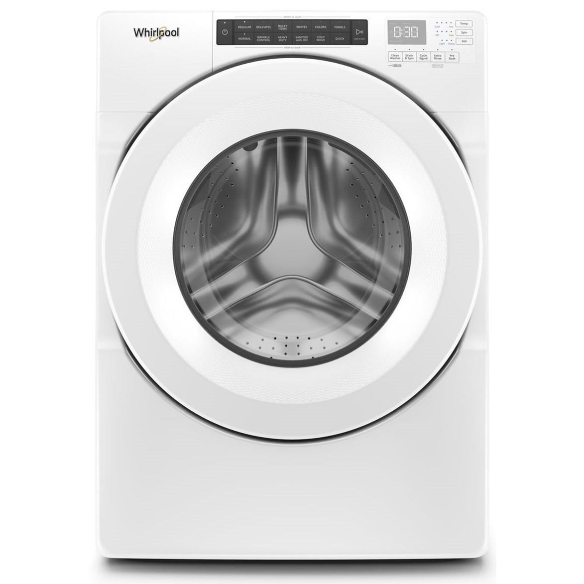 Front Load Washers 4.3 cu. ft. Closet-Depth Front Load Washer w by Whirlpool at Furniture and ApplianceMart