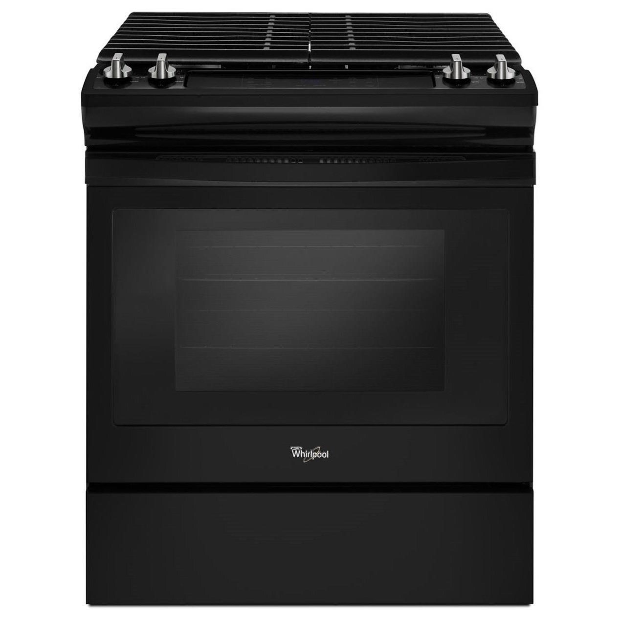 Gas Ranges 5.0 cu. ft. Front Control Slide-In Gas Range by Whirlpool at Furniture and ApplianceMart