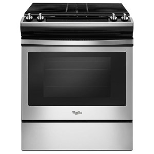 Whirlpool Gas Ranges 5.0 cu. ft. Front Control Slide-In Gas Range