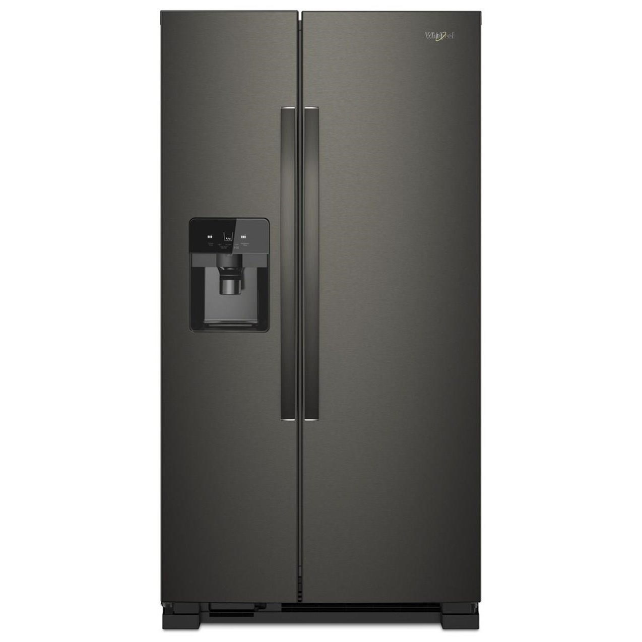 """Side-By-Side Refrigerators 21 Cu. Ft. 33"""" Side-by-Side Refrigerator by Whirlpool at Furniture and ApplianceMart"""