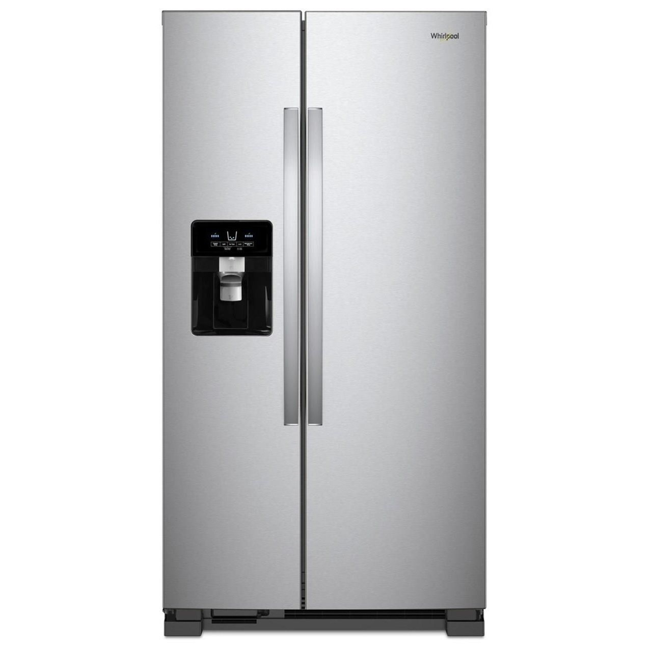 """Side-By-Side Refrigerators 21 Cu. Ft. 33"""" Side-by-Side Refrigerator by Whirlpool at Furniture Fair - North Carolina"""