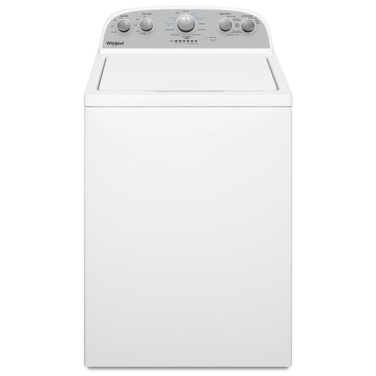 Top Load Washers 3.8 cu. ft. Top Load Washer by Whirlpool at Furniture and ApplianceMart