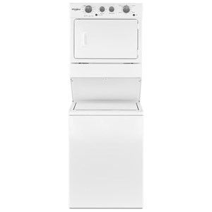 3.5 Cu. Ft. Electric Stacked Laundry Center 9 Wash cycles and AutoDry™