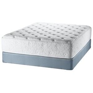 Queen Latex Mattress and Amish Crafted Wood Foundation