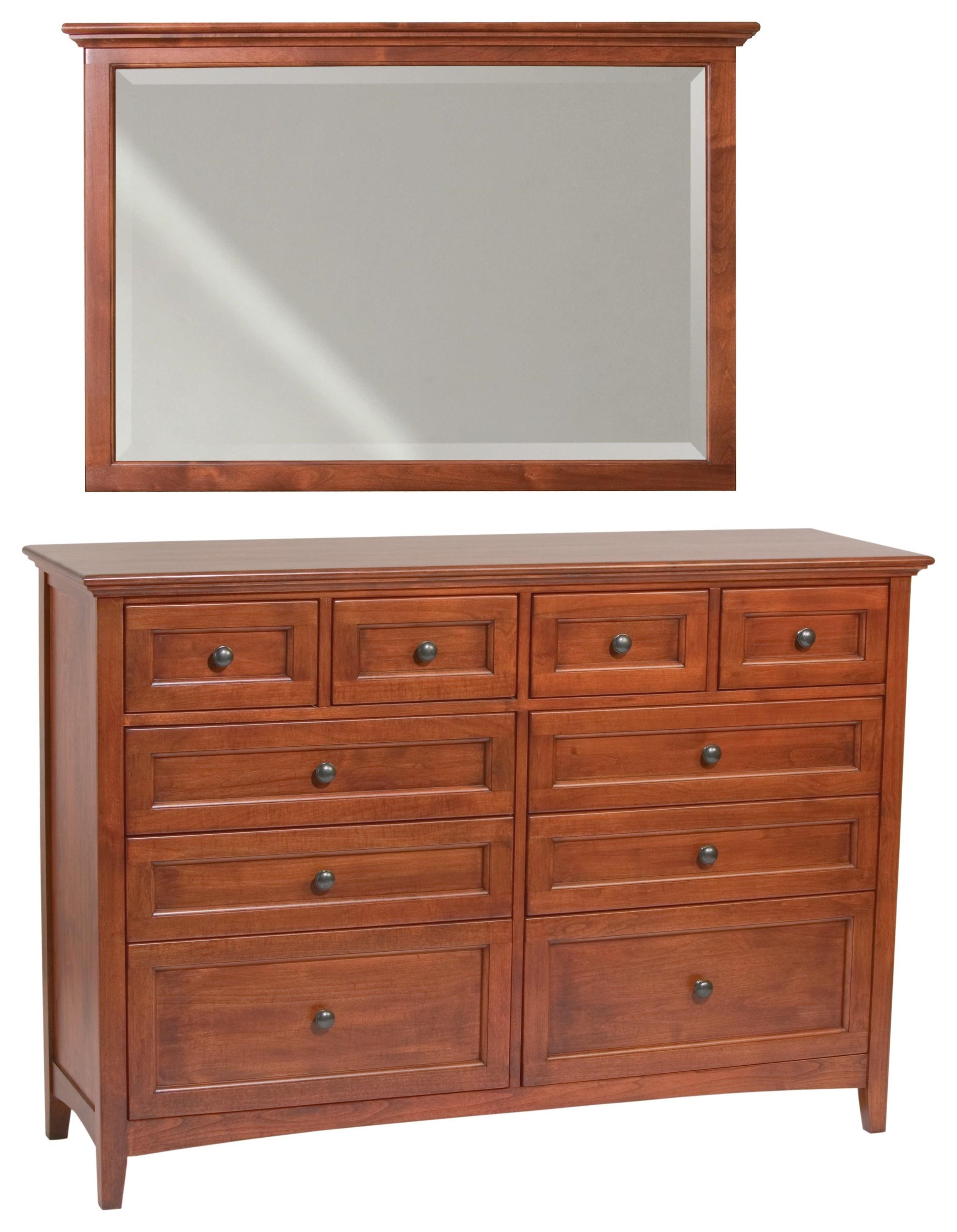 McKenzie Dresser & Mirror by Whittier Wood at Crowley Furniture & Mattress