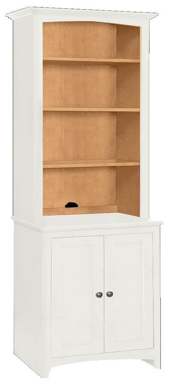 McKenzie Cabinet with Hutch by Whittier Wood at Crowley Furniture & Mattress