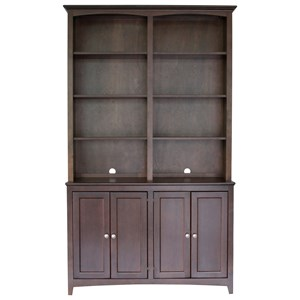"48"" Cabinet and Hutch Office Storage"