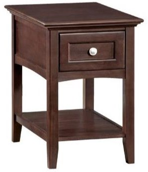 McKenzie Chairside Table by Whittier Wood at HomeWorld Furniture