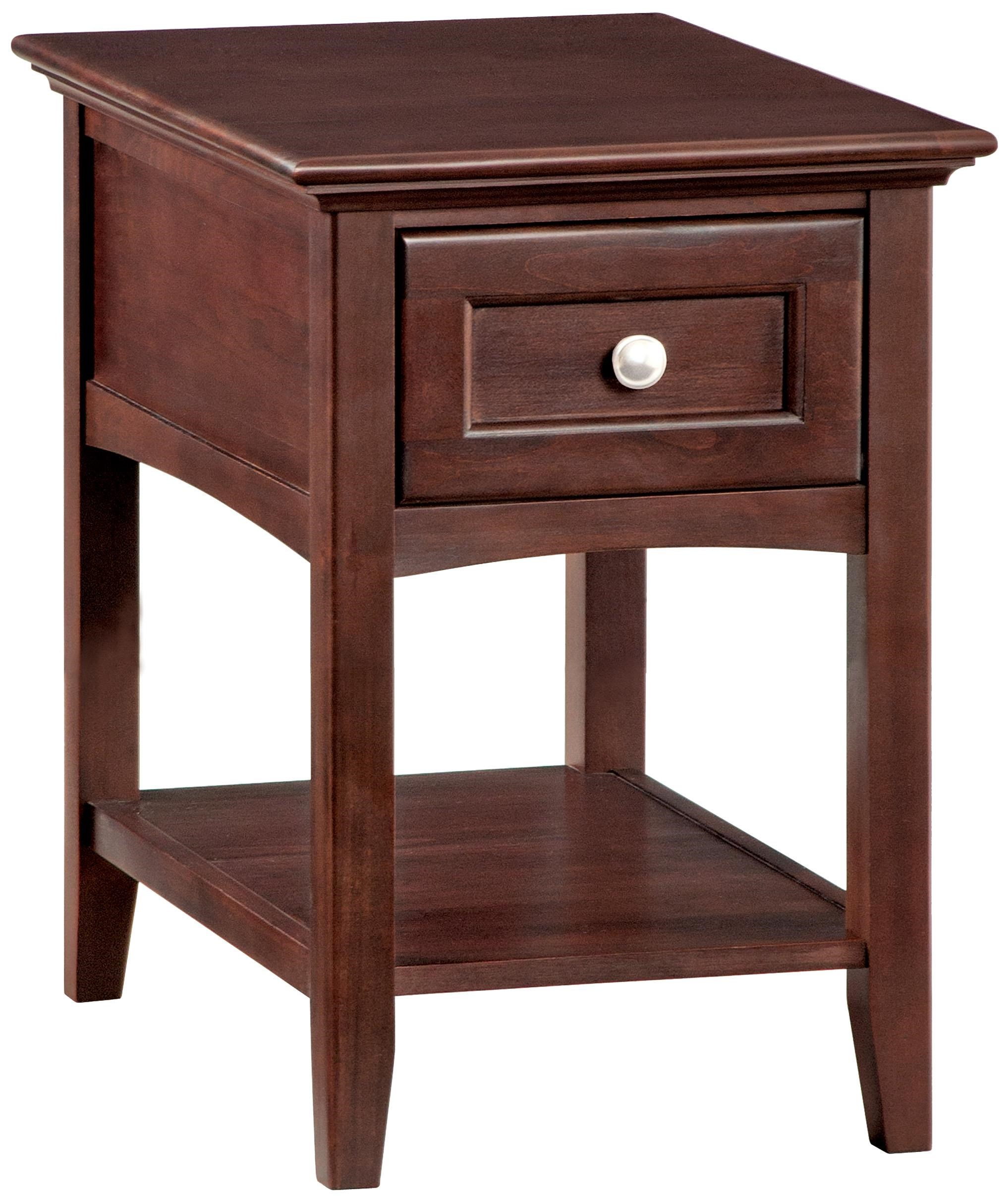 McKenzie Chairside Table by Whittier Wood at Crowley Furniture & Mattress