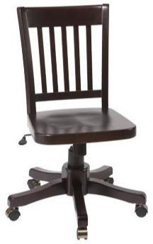 McKenzie Office Chair by Whittier Wood at HomeWorld Furniture